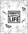 Donate Life Month Online Color-In picture