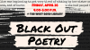 Black Out Poetry Workshop picture